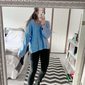 Sweaters - Blue oversized sweater (Thick)